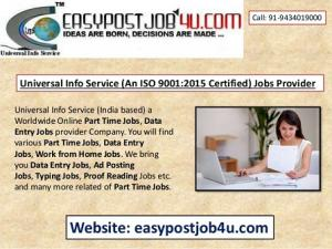 Best ONLINE jobs vacancy for 10+ to Graduation Pass Candidates, Monthly salary Rs.35,000/- Per Month