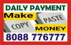 Daily payment job | copy paste work  | Work from Home | 1161 |