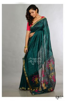 Shop from a variety of Pure Matka Silk Sarees online